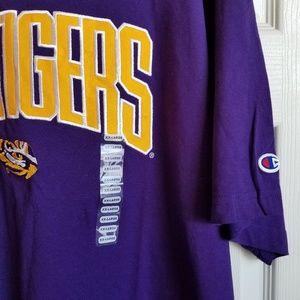 Champion Shirts - Champion LSU Tigers embroidered Tee size 2XL nwt